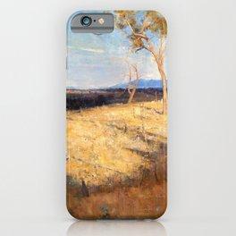 Arthur Streeton - Golden Summer, Eaglemont - Digital Remastered Edition iPhone Case