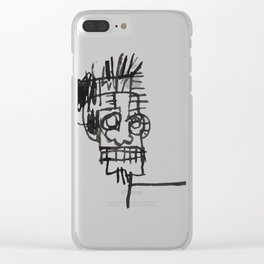 A vectorised and reworked Basquiat notebook sketch Clear iPhone Case