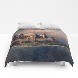 Beautiful Fantasy Town Comforters