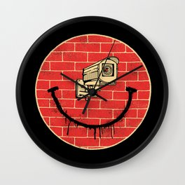 SMILE BIG BROTHER IS WATCHING Wall Clock