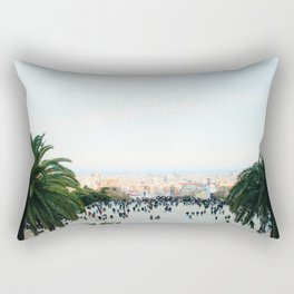 People at Park Güell Rectangular Pillow