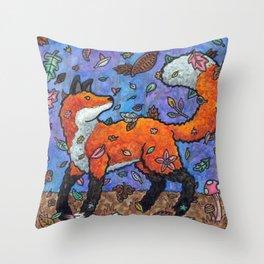 Fantasy Forest Fox Throw Pillow