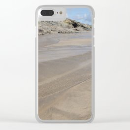 Cornwall Beach Photo 1818 with Cave Clear iPhone Case
