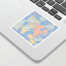 Stamped Gingko Leaves in Pastel Sorbet Sticker