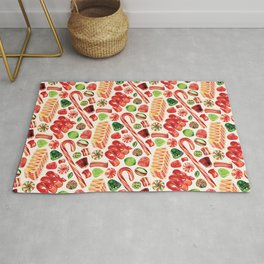 Christmas Candy Pattern Rug