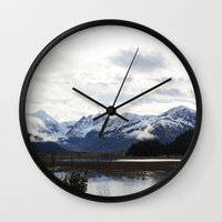 alaska Wall Clocks featuring Alaska by Chris Root