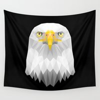 eagle Wall Tapestries featuring Eagle by Taranta Babu