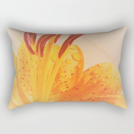 orange lilie Rectangular Pillow