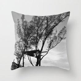 Rasta Tree Throw Pillow