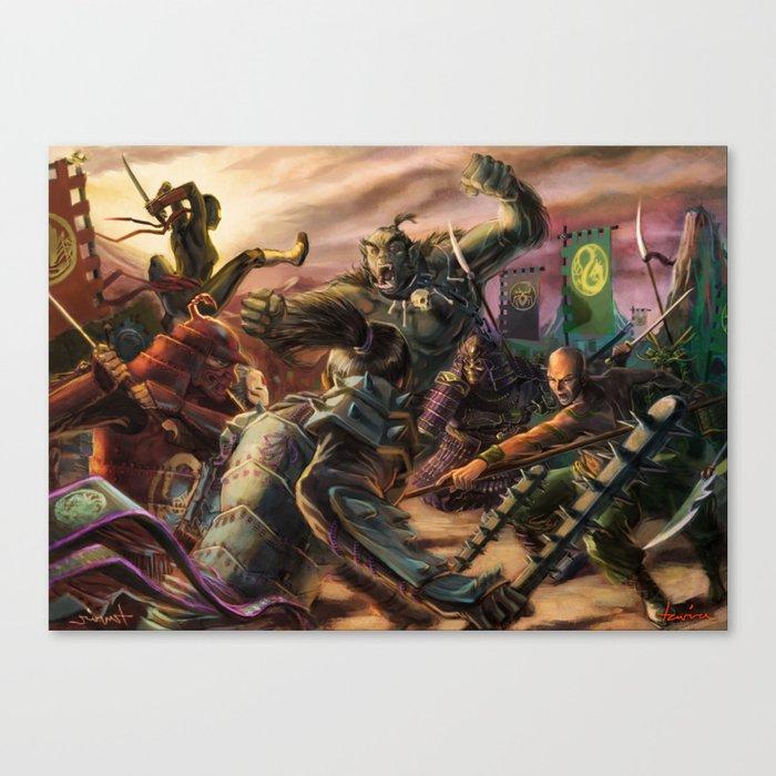 Chaos of Battle Canvas Print