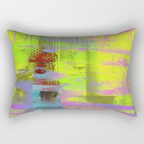 Abstract Thoughts 3 - Textured painting Rectangular Pillow