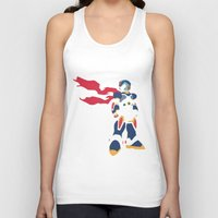 megaman Tank Tops featuring Megaman X by JHTY