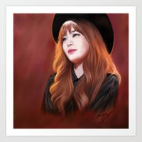 snsd Art Prints featuring Tiffany SNSD Digital Painting by chrispyart