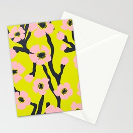 Pink Blooms Everywhere No 03 Stationery Cards