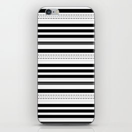 Stripes and dots pattern iPhone Skin
