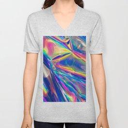 Holographic Unisex V-Neck