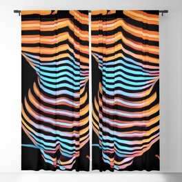 1262s-MAK Abstract Nude Woman Rendered Composition Style Blackout Curtain