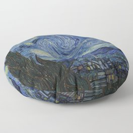 The Starry Night by Vincent van Gogh Floor Pillow