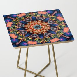 BBQSHOES: Kaleidoscopic Fractal Digital Art Design 1702K Side Table