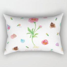Cupcake flower botanical illustration Rectangular Pillow