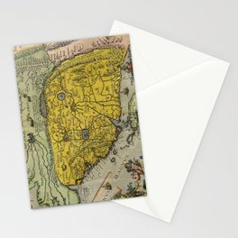Map of China - Ortelius - 1584 Stationery Cards