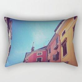 mediterranean street Rectangular Pillow