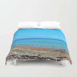 Perce Beach panoramic Duvet Cover
