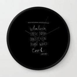 Jenny Slate (black) Wall Clock