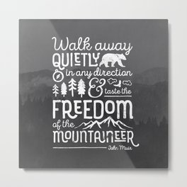 Freedom of the Mountaineer Metal Print