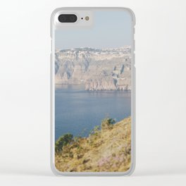 Santorini - Caldera I Clear iPhone Case