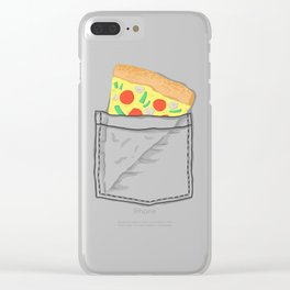 Emergency supply - pocket pizza Clear iPhone Case