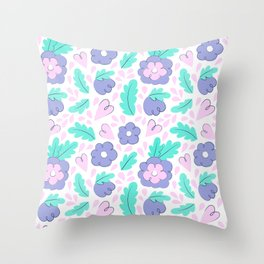 Creative floral print. Sping mood. Summer vibes. Happy lifestyle Throw Pillow