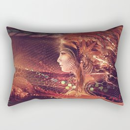 Shadow of a Thousand Lives - Visionary - Manafold Art Rectangular Pillow