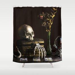Vanitas, Memento Mori, Macabre Halloween Photo Shower Curtain