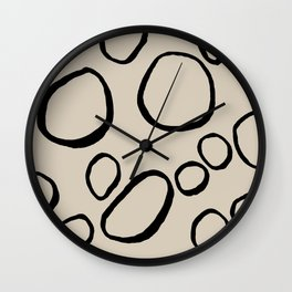 Daisy Circles Wall Clock