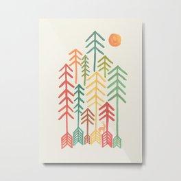 Arrow forest Metal Print