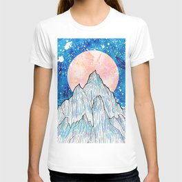 The cold peaks and the giant sun T-shirt