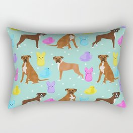 Boxer dog breed marshmallow peeps easter spring traditions cute dog breed gifts boxers Rectangular Pillow