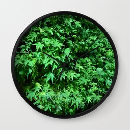 Military support Glow Japanese Maple Wall Clock
