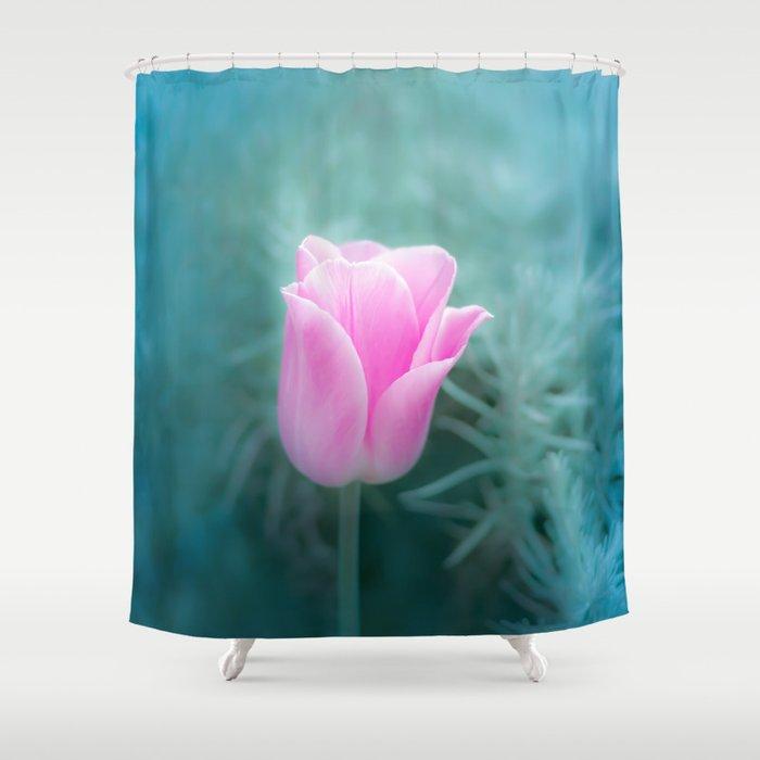 Pink Blossom Tulip Shower Curtain