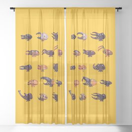 Rhino and Stag Sheer Curtain