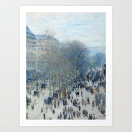 Claude Monet - Boulevard des Capucines, 1873 Art Print
