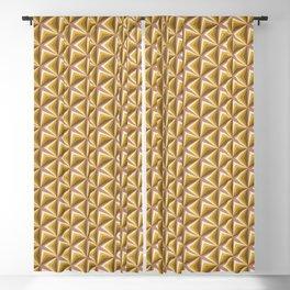 Triangle Gradient Mustard Desert 2 Blackout Curtain