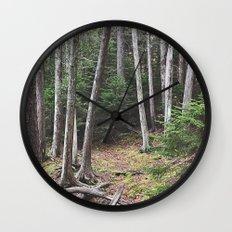 Maine Woods Wall Clock