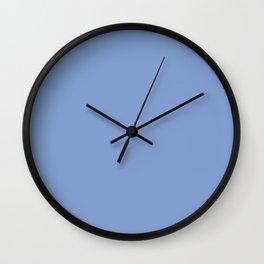 Vintage New England Shaker Village Federal Blue Milk Paint Wall Clock