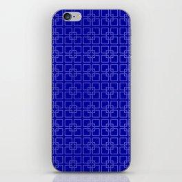 Rich Earth Blue Interlocking Square Pattern iPhone Skin