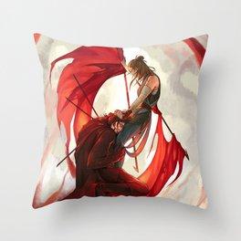 Bleeding flags Throw Pillow