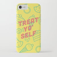 treat yo self iPhone & iPod Cases featuring Treat Yo' Self by Zeke Tucker