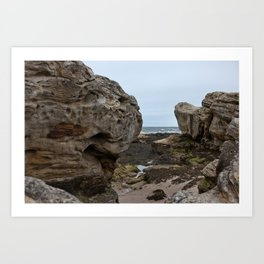 Stones on the Coast Art Print