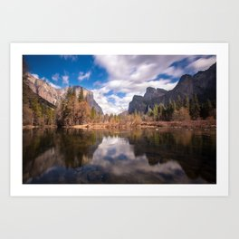 Clouds over Valley View, Yosemite, California Art Print